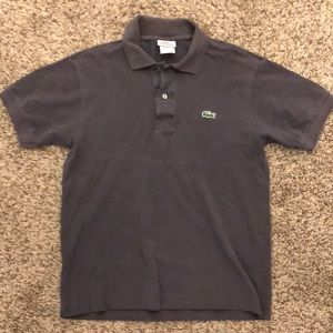 Men's Lacoste polo size extra small gray
